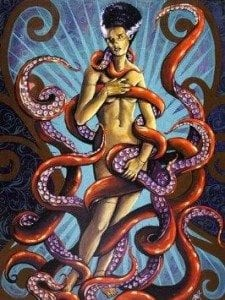 woman and tentacles